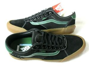 Vans Mens Chima Ferguson Pro 2 Canvas Suede shoes Black Alpine Green Size 11