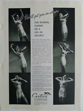 1940 women's Carter's foundations girdle bra garters get you in shape vintage ad