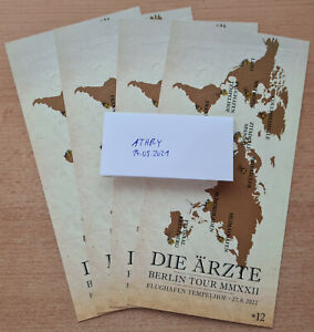 Die Ärzte Berlin Tour - Flughafen Tempelhof 27.08.2022, 1-2 Tickets Hardcover