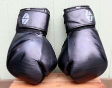 Society Nine Bia Boxing Sparring Gloves Black Hook and Loop Wrap 16oz