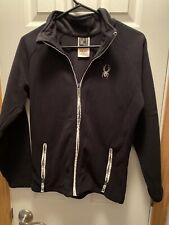 Youth Spyder Xl Full Zip Fleece Jacket Black