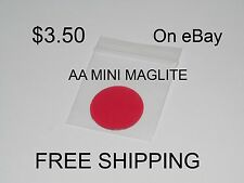 RED AA Mini Maglite Replacement Lens $3.50   FREE SHIPPING