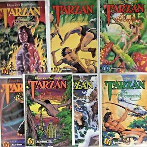 Tarzan Beckoning Edgar Rice Burroughs LOT 7 ISSUES #1,2,3,4,5,6,7 Malibu comics