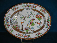 "Copeland Spode Indian India Tree Old Mark Pattern 2/916 Oval 13"" Serving Platter"