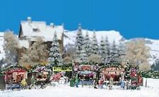 HO Busch 1059 German Christmas Market Fair Booths & More KIT for Diorama