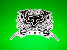 FOX RACING MOTOCROSS ATV QUAD UTV SNOWBOARD WAKEBOARD BLACK BRANDO STICKER DECAL