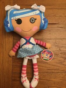LaLaLoopsy  Pillow Doll Plush Toy Lovey Blue Hair Original Tags