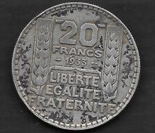 20 Francs Turin Argent 1933