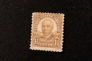 Warren G. Harding Brown 1930-1931 US 1 1/2 cent used stamp - #684