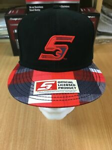 Genuine Snap-On Tools Black & Tartan Flat Peak Embroidered Baseball Cap Hat
