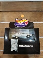 Hot Wheels Collectibles Black Box 1963 PLYMOUTH Limited Ed 1/64 Diecast