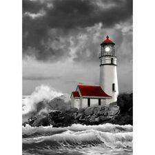 5D Full Drill Diamond Painting Lighthouse by the Sea Embroidery Kits Art Decor