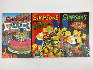 Lot Of 3 Simpsons Comics TPB Book - On Parade, Spectacular, Strikes Back !