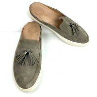 """GENTLE SOULS by Kenneth Cole """"Rory"""" Gray Suede Tassels Sneaker Mules Size 10 Med"""