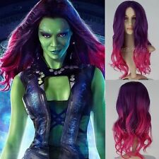 HOT! Guardians of the Galaxy Gamora Purple element volume wigs cosplay wig