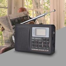 Portable Digital World Full Band Radio Receiver AM/FM/SW/MW External Antenna