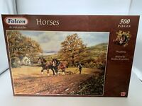 500 piece De-luxe Falcon jigsaw Puzzle Horses Ploughing new sealed
