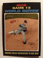 2020 Topps Heritage Baseball #329 2019 World Series Game #3 Baseball Card