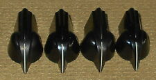 ^ 4 Daka-Ware Black Backlite Chicken Head Knobs