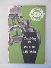 Original 1957 Chev truck tandem axle suspension service booklet - Chevrolet