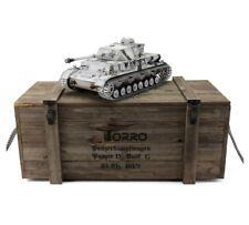 1:16 Torro German Panzer IV RC Tank 2.4GHz Infrared Metal Edition PRO Winter