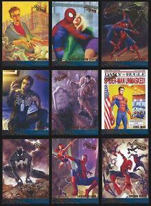 2017 Marvel Fleer Ultra Spider-Man Milestones You Pick the Card Finish Your Set
