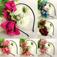 Baby Kids Girls Soft Elastic Flower Headband  Hairband Hair Accessories Headwear
