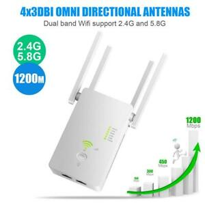 5G Wifi Repeater WiFi Amplifier 1200mbps Wireless Router 2.4G 5Ghz Internet Sign