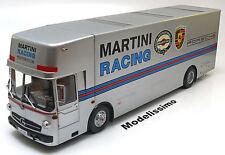 1:18 Schuco Mercedes O317 Porsche Renntransporter 1968 Martini