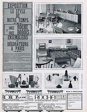 PUBLICITE ADVERTISING 084 1964 ROCHE BOBOIS meubles de notre temps