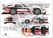 "[FFSMC Productions] Decals 1/24 Chrysler-Dodge Viper ""Cherreau"" #58 Le Mans 2001"