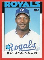 1986 Topps Traded #50T Bo Jackson Rookie RC EX+ MISCUT Kansas City Royals