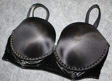 VICTORIAS SECRET VERY SEXY MULTI WAY Strapless BLACK BRA 36D Embellished