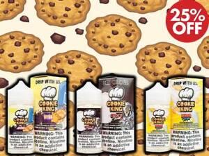 Cookie King 100 E Liquid Vape Juice Candy Multibuy Discounts ml