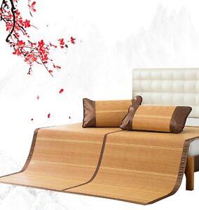 Summer Bamboo Mattress Protector Sleeping Mat Bamboo Bed Cover Cool 凉席 竹席