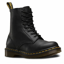 Ladies Dr Martens 1460 8-Eyelet Pascal Black Virginia Leather Boots UK 3 - 8