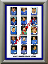LEICESTER CITY - 1968-69 - REPRO STICKERS A3 POSTER PRINT