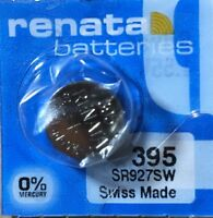 1-Renata 395 Battery SR927SW 399 Silver Oxide. Authorized Seller. Exp. 07/21