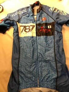 Small Nimblewear Cycling Shirt, 787 Ralty/Mobil 1 ,zipper, ,back pockets