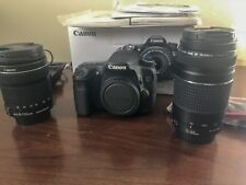 Canon EOS 70D Digital SLR Camera with 18-135mm IS STM Lens 75-300mm III + Extras