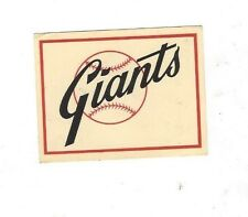 1961 Fleer Baseball Team Decal Insert -San Francisco Giants near mint - mint