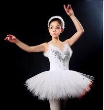 Women Fashion Skirt Adult Ballet Dance Dress Classic Swan Tutu Costume White