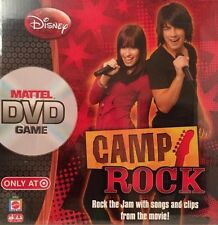 Disney Camp Rock DVD Game Mattel 2008 With Songs & Clips 2-6 Players Family Game