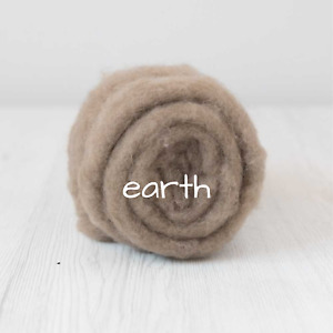 Carded Batting New Zealand Wool DHG 'Maori' Batt - Earth