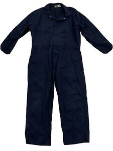 Key Mens Blue One Peice Button Up Coveralls Size 42 Reg Overalls Work Wear