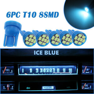 For Chevy Blazer S10 GMC Jimmy 01 05 Gauge Cluster LED Dashboard Bulbs Ice Blue