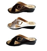 Pantofole donna aperte simil pelle ciabatte fibia 35 36 37 38 39 40 41 comode