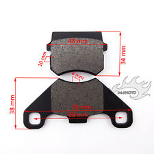 Front Brake Caliper Pads For 150cc Buggy Bike Apache BS200S-7 Quad ATV Go Kart
