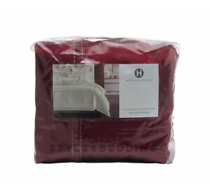 Hotel Collection Luxe Border FULL / QUEEN Duvet Cover Red BRAND NEW