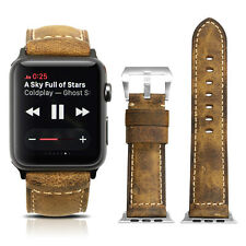 Apple Watch Vintage Brown Genuine Asso Leather Watch Band Strap For iWatch 42mm